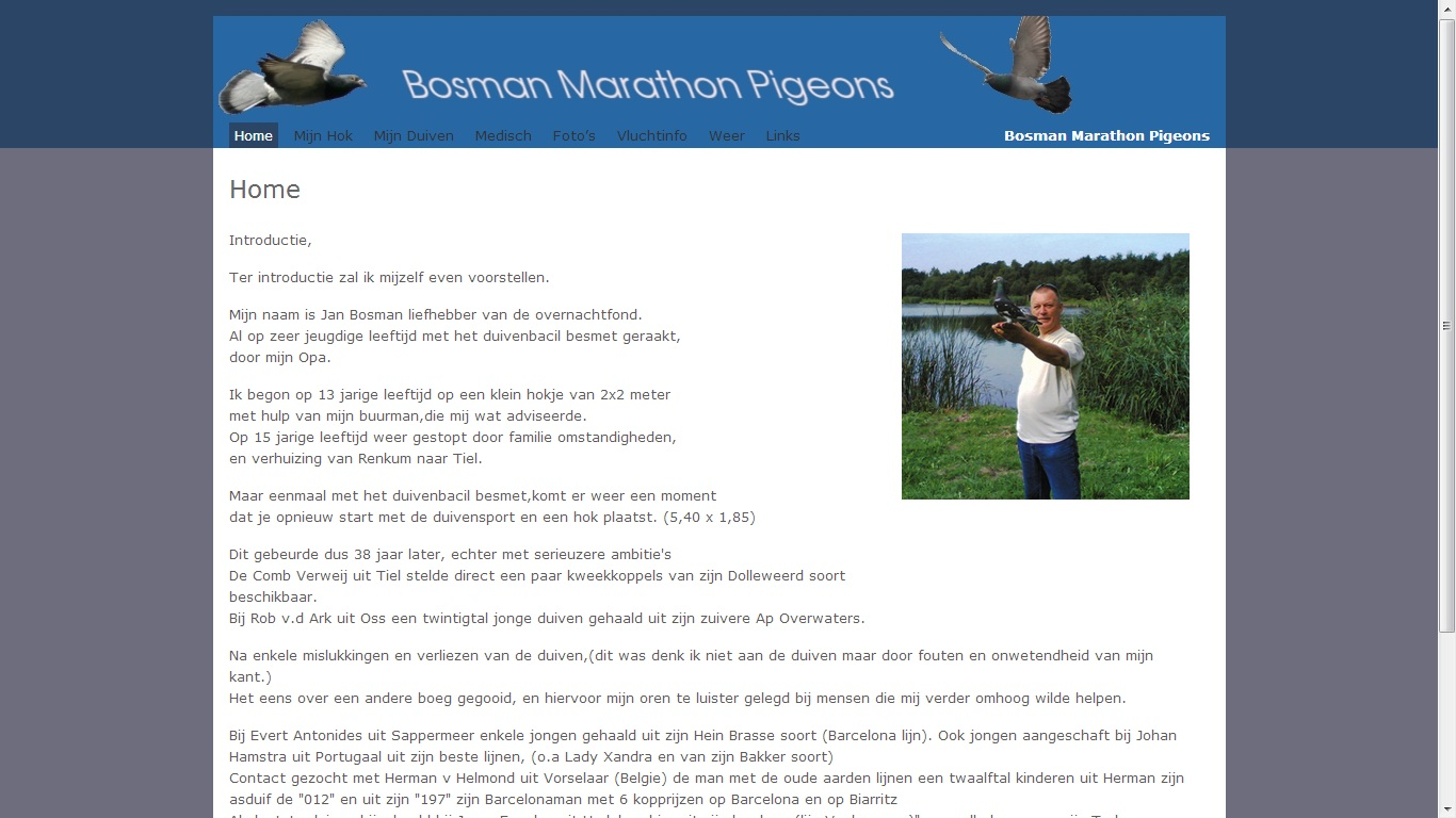 Bosman Marathon Pigeons